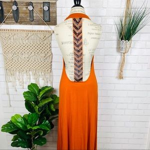 Urban outfitters tallow Rust beaded maxi dress
